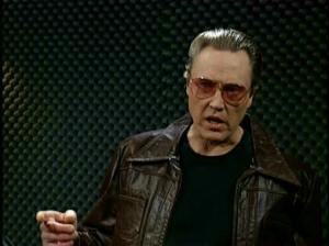 Christopher Walken on SNL.