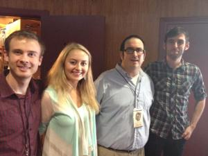 With 2013 Filmworks interns Andrew, Olga, and Colby.